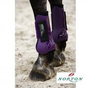 Ensemble Guêtres et Protège boulets NORTON pro violet noir cheval