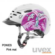 Casque Supersonic rose dessins violet