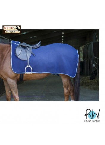 Couvre reins Polaire Riding World - bleu