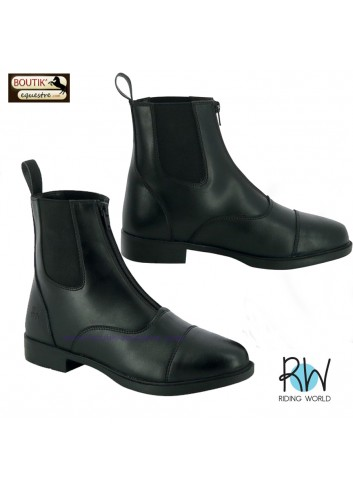 Boots Riding world Zip - noir