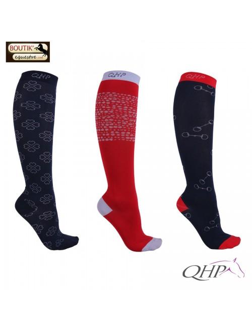 Chaussettes équitation QHP Sanya