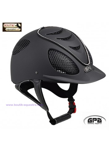 Casque GPA Speed Air Crystal - noir