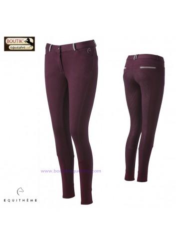 Pantalon EQUITHEME Glam Silicone - bordeaux