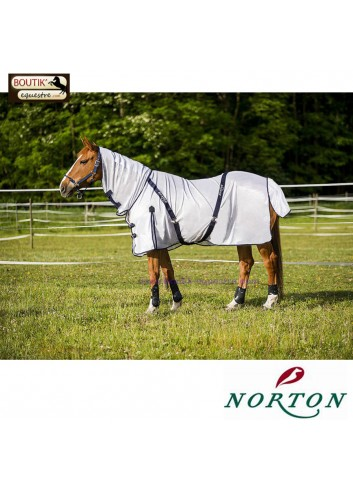 Chemise filet NORTON Combo - blanc