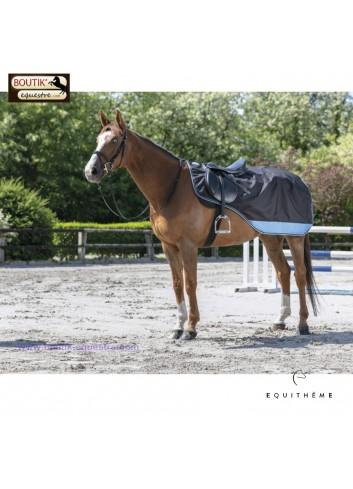Couvre reins EQUITHEME TYREX 600D - noir /bleu