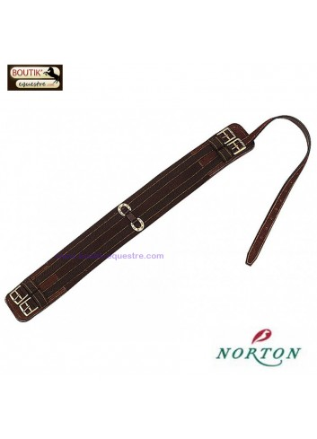 Sangle Norton pour selle Stock - brun