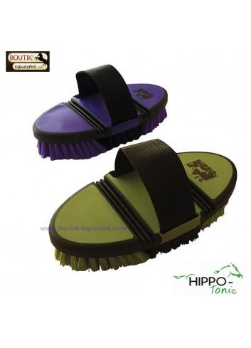 Brosse nylon flexible Hippotonic - violet / noir