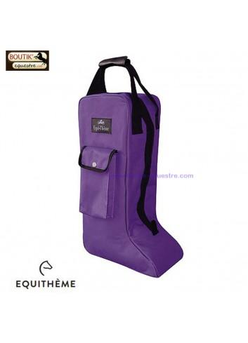 Sac a bottes Equi Theme - violet / noir