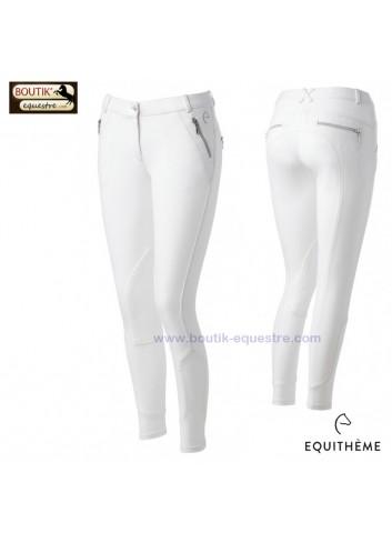 Pantalon Equi-thème Zipper femme - blanc