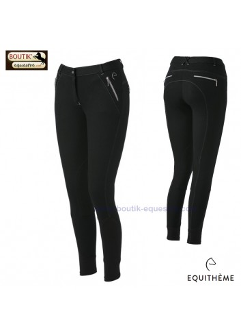 Pantalon Equi-thème Zipper femme - noir
