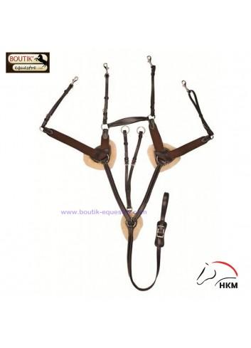 Collier de chasse HKM - brun