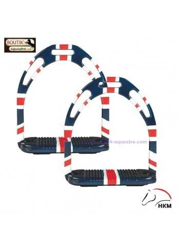 Etriers HKM Alu flags - drapeau Anglais