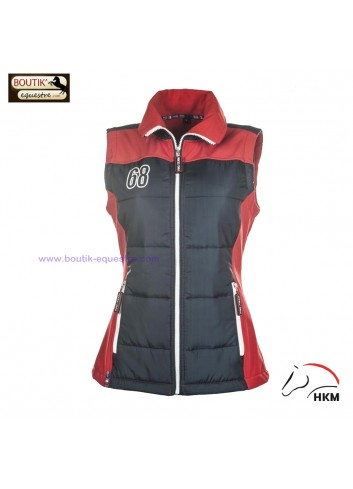 Gilet HKM International - rouge / marine