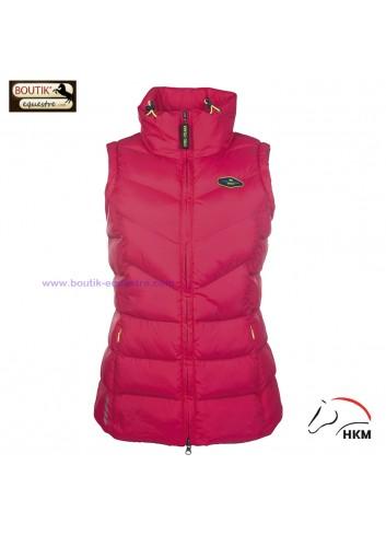 Gilet HKM Neon Sports - rose