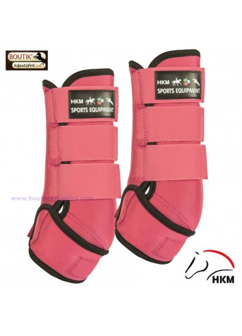 Guetres neoprene HKM Colour - rose