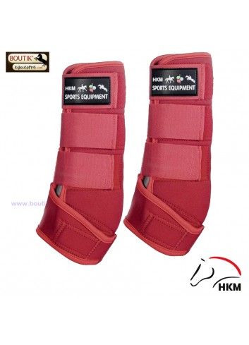 Guetres neoprene HKM Colour - rouge