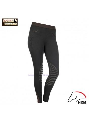 Legging HKM Starlight - noir / marron