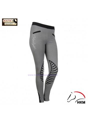 Legging HKM Starlight - gris / noir