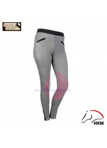 Legging HKM Starlight - gris / rose