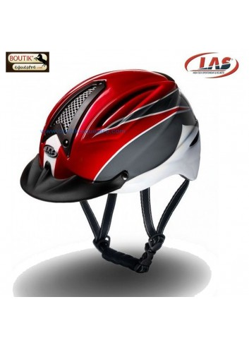 Casque LAS XTB - rouge / anthracite