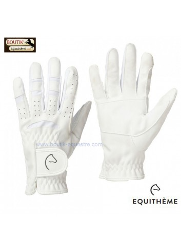 Gants Equi Theme Grip - blanc