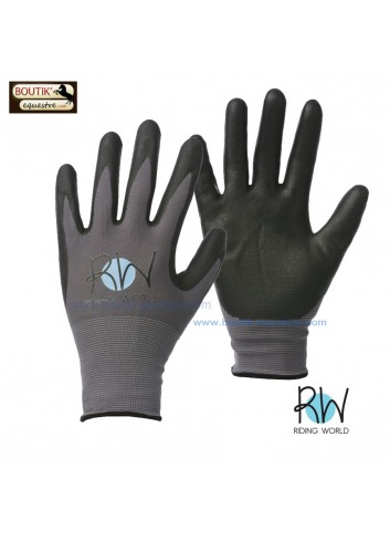Gants Riding World Groom - noir