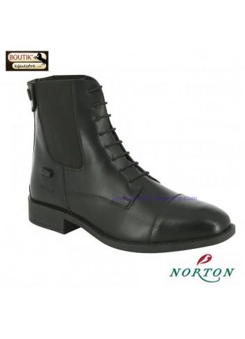 Boots NORTON Lacets - noir