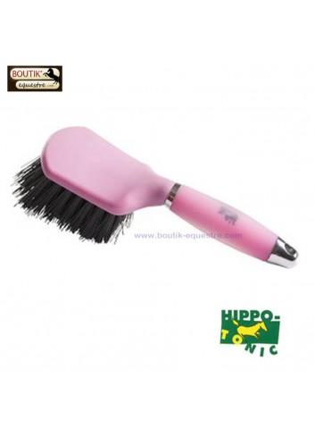 Brosse à sabots Hippo Tonic - rose