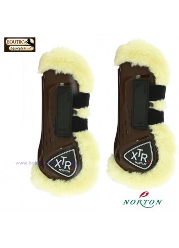 Guêtres NORTON XTR mouton synthétique - brun