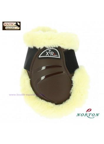 Protège-boulets NORTON XTR mouton synthétique - brun
