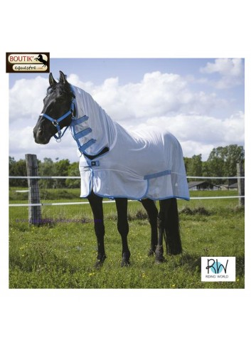 Chemise filet Riding World Combo - blanc