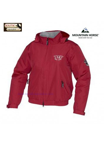 Crew Jacket jr Mountain Horse - rouge