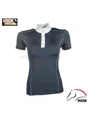 Polo concours HKM International - bleu fonce