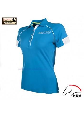 Polo HKM Neon Sports femme - bleu azur
