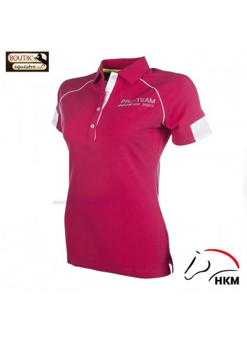Polo HKM Neon Sports femme - rose