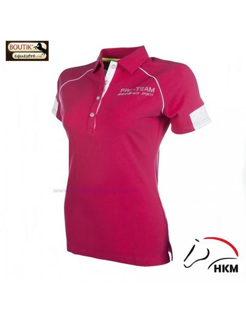 Polo HKM Neon Sports femme