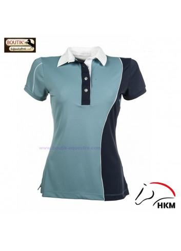 Polo HKM Seaside femme - azur / marine