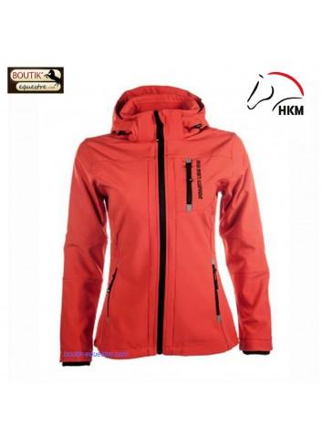 Veste HKM sport Softshell - rouge