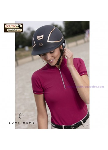 Casque EQUITHEME Hybrid Rose GOLD