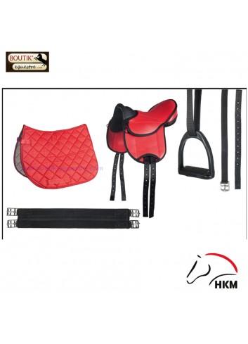 Set HKM Beginner Shetland - rouge