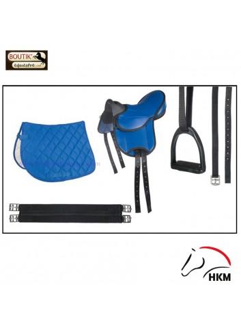 Set HKM Beginner Shetland - bleu
