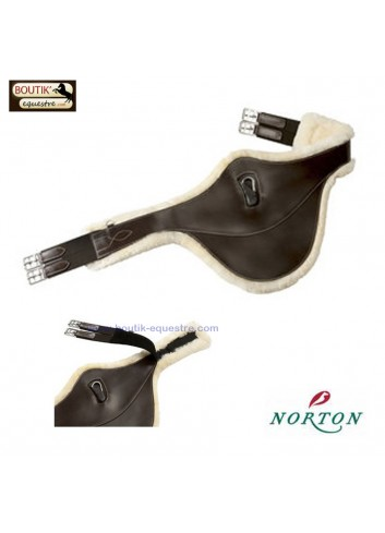 Sangle bavette NORTON PRO doublée - havane