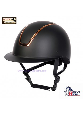 Casque Harry's Horse Royal Matt - noir / rosegold