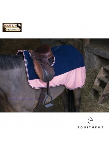 Couvre reins EQUITHEME polaire - marine / or rose
