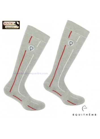 Chaussettes EQUITHEME Flag - gris