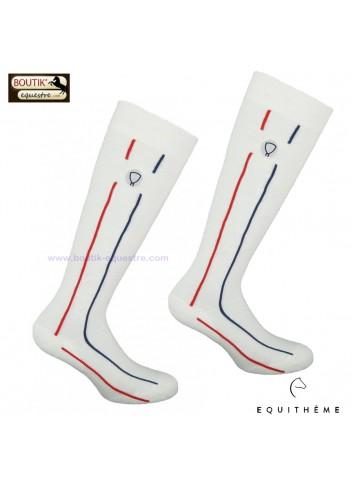 Chaussettes EQUITHEME Flag - blanc