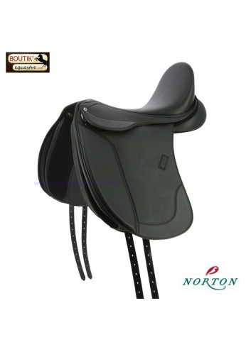 Selle Dressage Norton Club Rexine Evol - noir