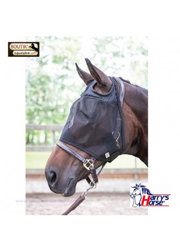 Masque Anti mouches Flyshield Harry's Horse - noir