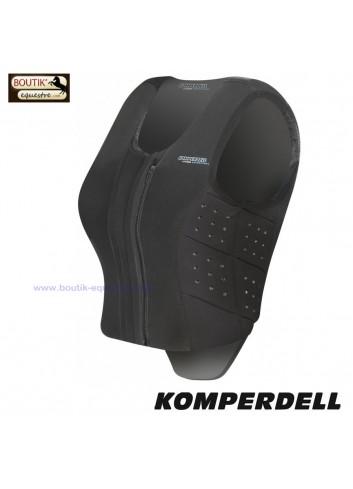Gilet KOMPERDELL Frontzip Slim - noir
