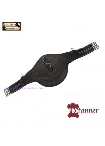 Sangle bavette Protanner Poney Cuir - noir